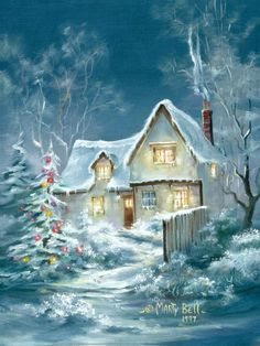 Frosty Christmas home....Marty Bell