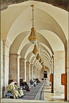.....the outdoor colonnade by alberto laurenzi on 500px , Syria -Aleppo - the Big Mosque Omayyade