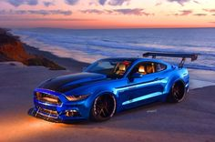 Sam Soto's 2015 Ford Mustang features a Vortech supercharger, wide fender flares, and monster tires. Ford Mustang 2016, Mustang Cars, Ford Mustangs, S550 Mustang, Dodge Charger Hellcat, Eco Friendly Cars, Car Backgrounds, Custom Muscle Cars, Diy Baby