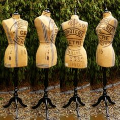 Image of Vintage French Grain Sack Mannequin OOAK #7