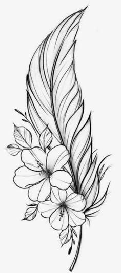 Flower Tattoo Drawings, Tattoo Design Drawings, Art Drawings Sketches Simple, Pencil Art Drawings, Flower Tattoos, Tattoo Designs, Cute Tattoos, Body Art Tattoos, Sleeve Tattoos