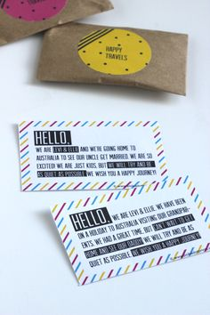 Polkadot Prints: TRAVELLING WITH KIDS :: NEON GIFT PACKS