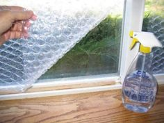 Bubble wrap can insulate windows in a pinch. |  Easy Ways To Get Your Home Ready For Winter
