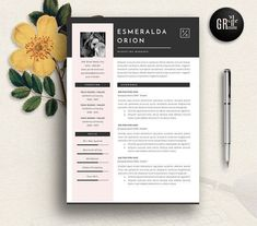 Resume Template   CV Template - 11 by GResume on @creativemarket