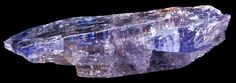 Tanzanite - Found in Tanzania Beautiful blues and purples, colour darkens and lightens depending on the light.