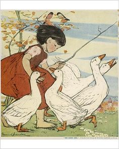 Amazon.com - Photographic Print of The Goose Girl by Muriel Dawson -