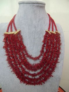 FREE SHIPPING>>>@@> New design - fashion / party natural red coral necklace NEW -Bride jewelry free shipping