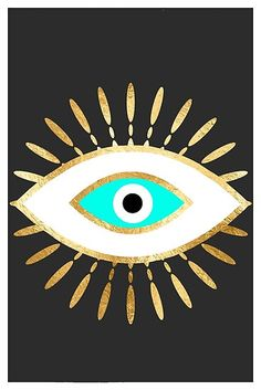 Frise Art, Hamsa, Eyes Wallpaper, Wallpaper Wallpapers, Iphone Wallpapers, Evil Eye Art, Painted Hats, Gold Foil Print, Foil Prints