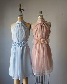 mismatched bridesmaid dresses / Dress / Bridesmaid / Romantic / Blue and Bluch    / Fairy / Dreamy / Bridesmaid / Party / wedding / Bride. $89.99, via Etsy.