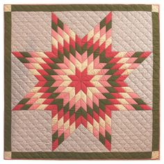 Amazing Mounted, 19th Century Pennsylvania  Star Crb Quilt | From a unique collection of antique and modern quilts at https://www.1stdibs.com/furniture/folk-art/quilts/
