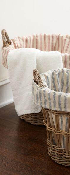Farmhouse Wicker Laundry Baskets