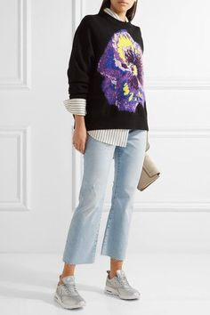 Current/Elliott - The Kick Cropped Distressed Mid-rise Flared Jeans - Light denim -