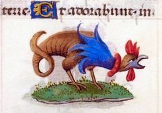 Book of Hours, Use of Rome (the 'Hours of Joanna I of Castile' or the 'Hours of Joanna the Mad') Add MS 18852 Folio Medieval Dragon, Medieval Art, Medieval Manuscript, Illuminated Manuscript, Statues, Ovid Metamorphoses, Old Best Friends, Illumination Art, Weird Creatures