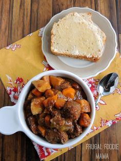 Slow Cooker Balsamic Beef Stew via thefrugalfoodiemama.com - this rich and hearty stew simmers in your crock pot all day