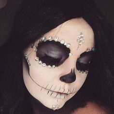 """575 Likes, 9 Comments - Jenny Nilsson (@jennynilssons) on Instagram: """" Diamond Sugar Skull  inspired by the beautiful @desimakeup  #AnastasiaBeverlyHills Waterproof…"""""""