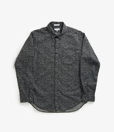 nepenthes online store,ENGINEERED GARMENTS Short Collar Shirt - Mini Floral Petal