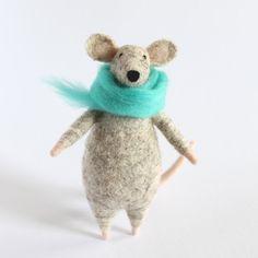 Myška s šálou / Zboží prodejce kiariku | Fler.cz Dinosaur Stuffed Animal, Teddy Bear, Animals, Animales, Animaux, Animal, Teddybear, Animais