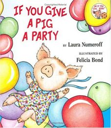 The story line is simple but very cute, it tells  about all the funny things that happen if you give a party for a pig. The book kept both Emily and Juliette engaged in the story and is also wonderful for teaching cause and effect.