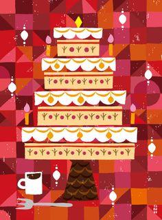 Tomoko suzuki celebrate christmas illustration, illustration art и illustra Cake Illustration, Character Illustration, Vintage Christmas, Christmas Cards, Christmas Print, Christmas 2016, Christmas Illustration Design, Art Watercolor, Happy 2nd Birthday