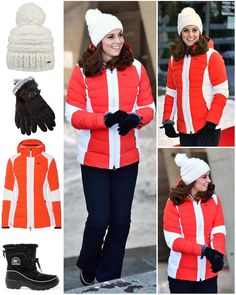 """Final outfits of the Royal Tour: For this afternoon's visit to Holmenkollen, The Duchess added a…"""