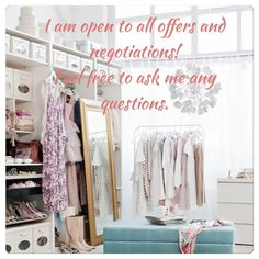 Everything in my closet is negotiable! Please feel free to make me an offer, if it's too low we can meet somewhere in between! ALL Other