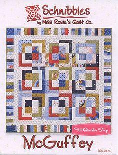 McGuffey Schnibbles Charm Pack Quilt Pattern Miss Rosie's Quilt Company Schnibbles Pattern