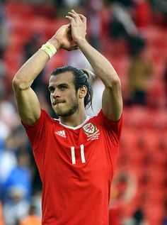 #EURO2016 Wales' forward Gareth Bale celebrates after a 10 victory following the Euro 2016 round of sixteen football match Wales vs Northern Ireland on June 25...