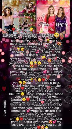 Crazy Birthday Wishes, Happy Birthday Bestie Quotes, Happy Birthday Posters, Birthday Wishes For Myself, Happy Birthday Template, Birthday Captions, Birthday Message, Friendship, Lyrics