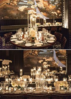 #Beautifully #classic #elements, mixed wit an #edgytouch. This #celebration is everything we #love about #weddings. It's #chic, #sophisticated, and looks like so much #fun! From the #bride's #sequined #gown to #tableslined with #orchids, we can't get enough of all the #gorgeous #details. this but fuller