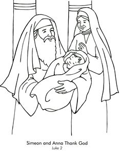 Simeon and Anna Coloring Page