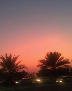 Sunset at the Abu Dhabi corniche