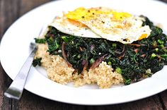 Kale with Caramelized Onions (+Quinoa)