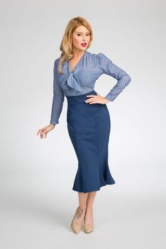 Heart of Haute Diva Skirt in Exclusive Slate | Pinup Girl Clothing
