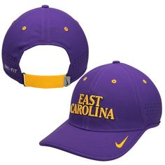 ffad8af48d3 East Carolina Pirates Nike Dri-FIT Sideline Coaches Adjustable Hat - Purple