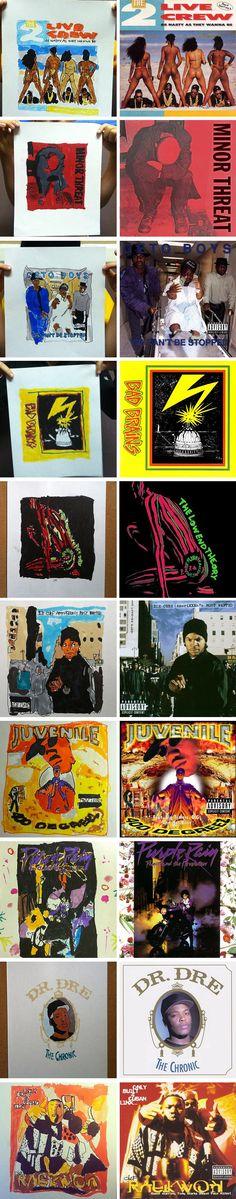 old artist recreates classic album covers Minor Threat, Classic Album Covers, 7 Year Olds, Goblin, Hip Hop, Culture, Music, Artist, Artwork