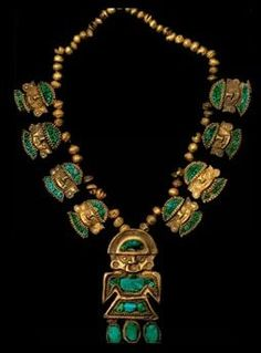 Ancient Gold necklace, Peru, ca A. Medieval Jewelry, Ancient Jewelry, Old Jewelry, Tribal Jewelry, Indian Jewelry, Antique Jewelry, Vintage Jewelry, Viking Jewelry, Collar Hippie