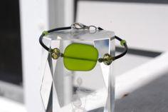Simple sea glass in bracelet by Andrea Trank ~Heaven Lane Creations