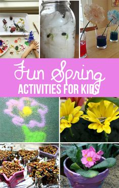We've found our favorite Spring Activities, including science, art and crafts! These are perfect for outside on sunny days or inside on rainy days. Bring on Spring!   #springactivities #kidsactivities #STEAM #STEM