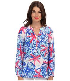 Lilly Pulitzer Elsa Top Resort White She She Shells - Zappos.com Free Shipping BOTH Ways