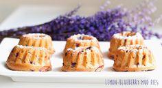 Lemon&blueberry mud pies/ Citronové bábovičky s borůvkami