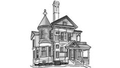 Queen Anne:A sub-style of the late Victorian era, Queen Anne is a collection of coquettish detailing and eclectic materials. Steep cross-gabled roofs, towers, and vertical windows are all typical of a Queen An