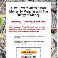 A Breakthrough New Special Audio That Brings Your Vibrational Energy Into Alignment With The Essence Of Money. See more! : http://get-now.natantoday.com/lp.php?target=moneyaudio