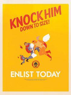 Super Mario posters: Koopa Troopa army propaganda