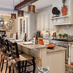 Kitchen table and bar stools