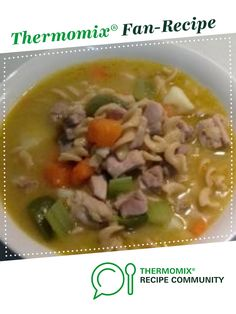 Chicken and vegetable hearty soup by Sooksook. A Thermomix <sup>®</sup> recipe in the category Soups on www.recipecommunity.com.au, the Thermomix <sup>®</sup> Community.