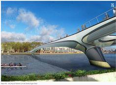 Long Span bridges and Fritz Leonhardt heritage Rio Tamesis, London Bridge, New Life, Futuristic, Kai, Cool Designs, Public Spaces, Bridges, Competition