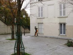 """by Claire Thoele, Franch street artist, known for her series of drawings """"Kissing In Sexy""""."""