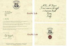 Lettera di accettazione ad Hogwarts personalizzata con i vostri dati. Include: lettera e busta personalizzata e chiusa con ceralacca.
