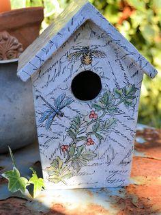 birdhouse crafts   La Bande des Faineantes: DiY - Bird house , in giardino o in casa ?