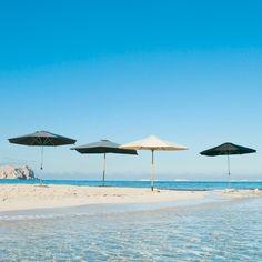 Parasol de jardin gris D 350 cm Marbella   Maisons du Monde